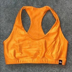 Bootybybrabants golden orange ribbed top